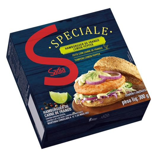 Hambúrguer de Frango Lemon Pepper Sadia Speciale 300g - Imagem em destaque