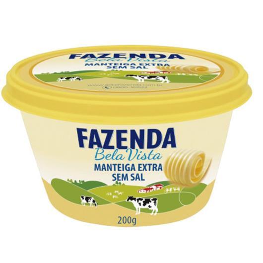 Manteiga Fazenda Bela Vista extra sem sal 200g - Imagem em destaque