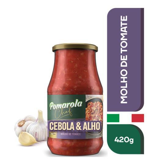 Molho Tomate Pomarola Cebola E Alho Chef Vidro - 420g - Imagem em destaque