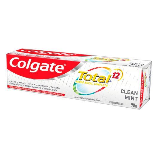 Pack Creme Dental Clean Mint Colgate Total 12 Caixa 3 Unidades 90g Cada - Imagem em destaque
