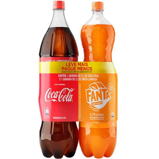 Kit Refrigerante Coca-Cola + Fanta Laranja 2l Cada Leve Mais Pague Menos - Imagem em destaque