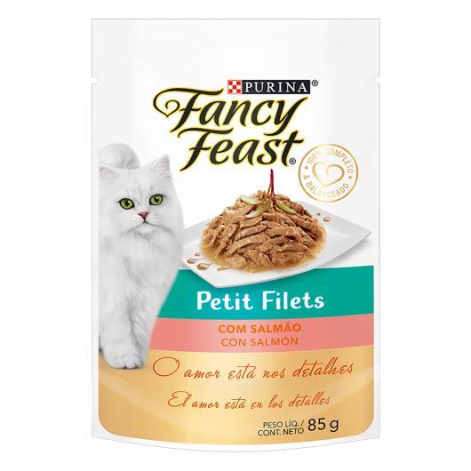 Alimento para Gatos Adultos Petit Filets com Salmão Purina Fancy Feast Sachê 85g - Imagem em destaque