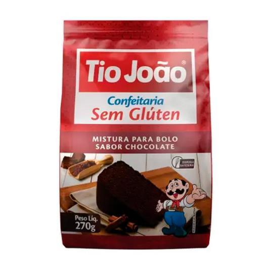 Mistura para Bolo sem glúten Tio João chocolate 270g - Imagem em destaque