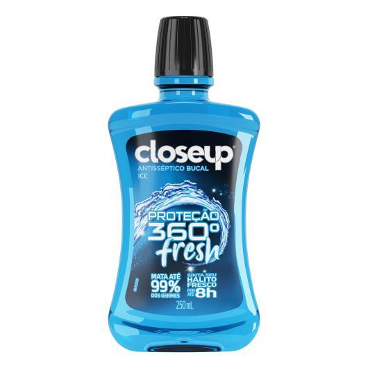 Antisséptico Bucal Closeup proteção total 360 fresh 250ml - Imagem em destaque