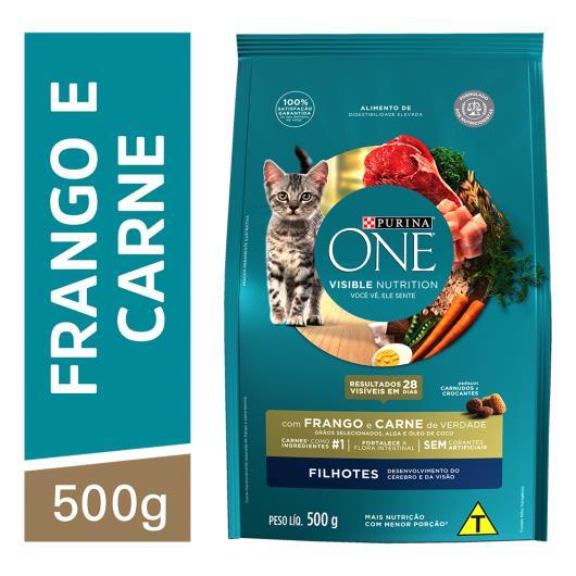 Alimento para Gato filhote Purina One frango e carne 500g - Imagem em destaque
