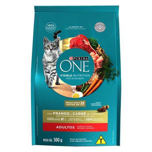 Alimento para Gato adulto Purina One frango e carne 500g - Imagem em destaque