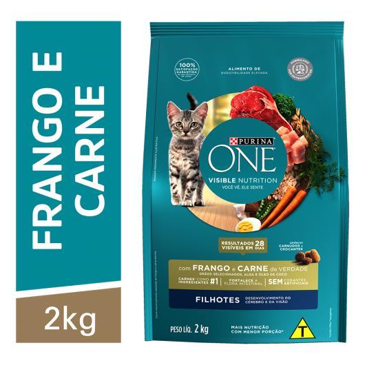 Alimento para Gato filhote Purina One frango e carne 2kg - Imagem em destaque