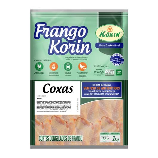 Coxa de Frango Congelada Livre de Transgênicos Korin Sustentável 1kg - Imagem em destaque