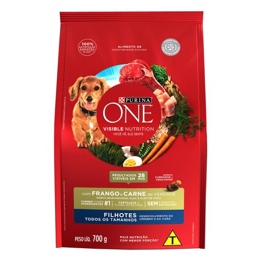 Alimento para Cães filhote Purina One frango e carne 700g - Imagem em destaque