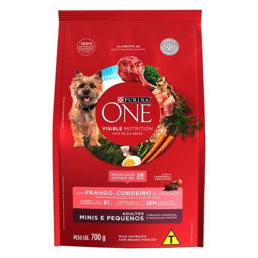 Alimento para Cães adulto pequeno Purina One frango e cordeiro 700g - Imagem em destaque