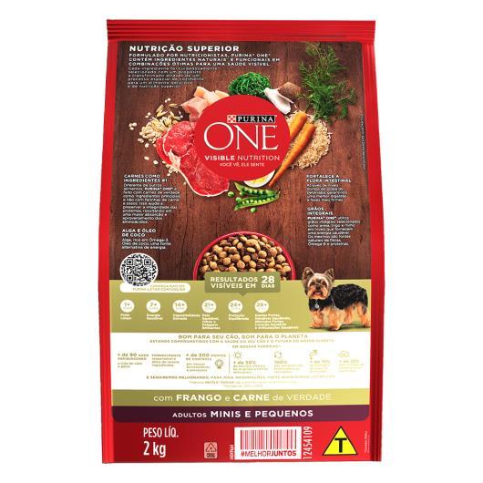 Alimento para Cães adulto pequeno Purina One frango e carne 2kg - Imagem em destaque
