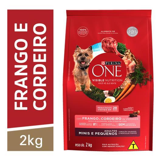Alimento para Cães adulto pequeno Purina One frango e cordeiro 2kg - Imagem em destaque