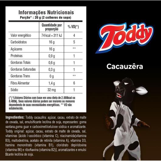 Achocolatado em Pó Cacauzêra Toddy Pote 300g - Imagem em destaque