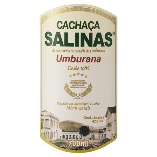Cachaça Umburana Salinas Garrafa 700ml - Imagem em destaque