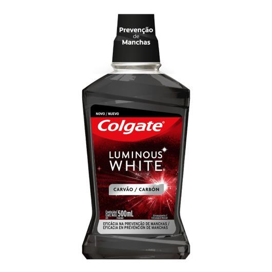 Enxaguante Bucal Carvão Zero Álcool Colgate Luminous White Frasco 500ml - Imagem em destaque