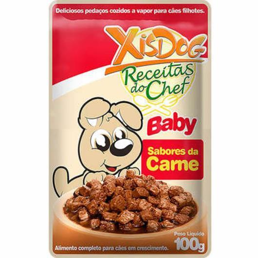Alimento Cães XisDog Baby sabores da carne 100g - Imagem em destaque