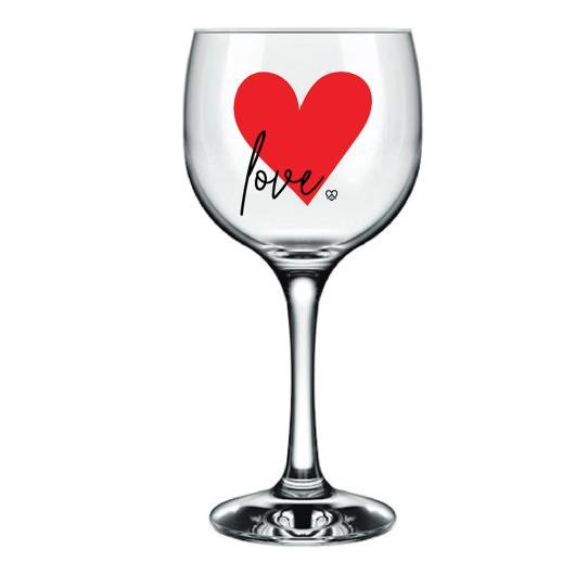 Taça Royal Gran vinho decorada Love 615 ml unid - Imagem em destaque