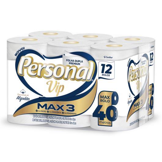 Papel Higiênico Folha Dupla Personal Vip Premium 40m Pacote 12 Unidades - Imagem em destaque