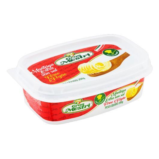 Manteiga Extra sem Sal Gran Mestri Forno e Fogão Pote 200g - Imagem em destaque