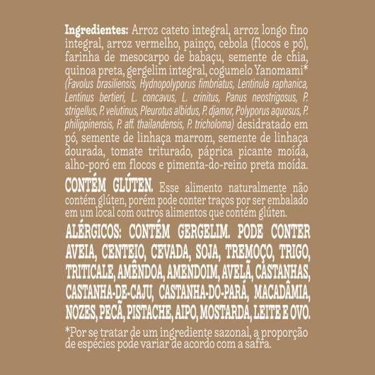Arroz com Cogumelo Yanomami Mãe Terra Ritto Sachê 170g - Imagem em destaque