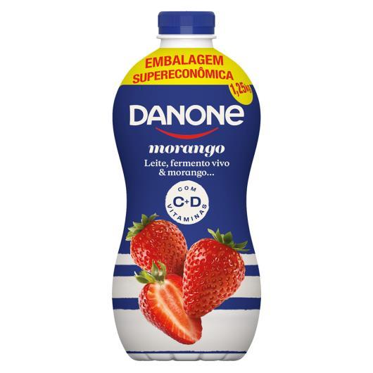 Iogurte Parcialmente Desnatado Morango Danone Garrafa 1,25kg - Imagem em destaque