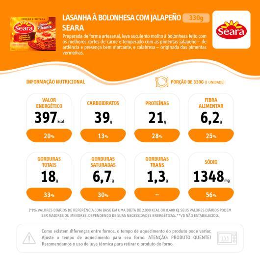 Lasanha bolognesa com jalapeño 330g - Imagem em destaque