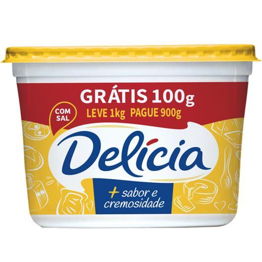 Margarina com Sal Delícia + Sabor e Cremosidade Pote 1kg Embalagem Econômica - Imagem em destaque