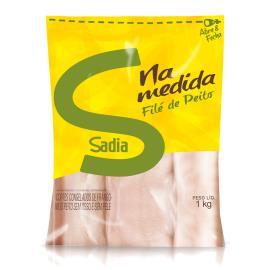 Cortes de frango Sadia Filé de peito congelado 1kg