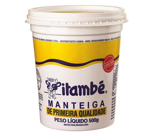 Manteiga com sal Itambé pote 500g - Imagem em destaque