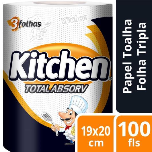 PAPEL TOALHA KITCHEN TOTAL ABSORV 100 FOLHAS - Imagem em destaque