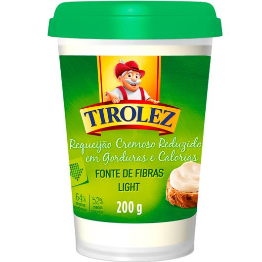 Requeijão Tirolez cremoso light com fibras 200g - Imagem em destaque