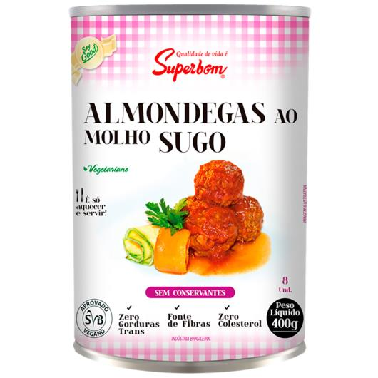 Almôndega Superbom Soy Good vegetariana ao sugo 400g - Imagem em destaque
