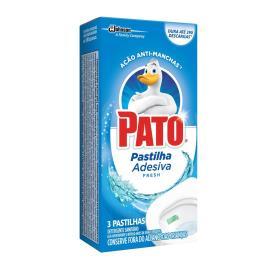 Desodorizador Sanitário Pato Pastilha Adesiva Fresh 3 unidades