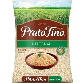 Arroz Integral Parboilizado Prato Fino 1kg