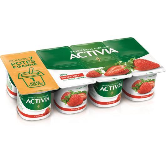 Leite fermentado Activia sabor morango embalagem econômica 800g - Imagem em destaque