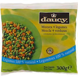 Mistura 4 Legumes Congelada D'aucy 300g