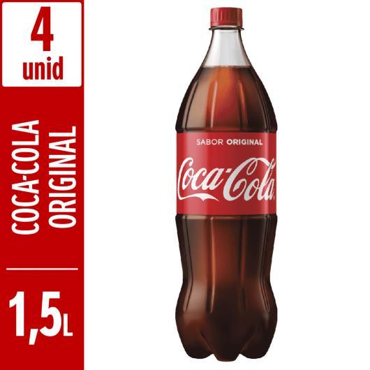Refrigerante Coca-Cola pet 1,5L c/ 4 unidades - Imagem em destaque