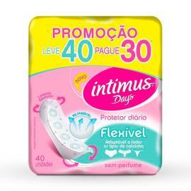 Protetor diário Intimus days sem perfume leve 40 pague 30