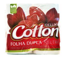 Papel higiênico neutro e folha dupla Cotton 30m 4 unidades