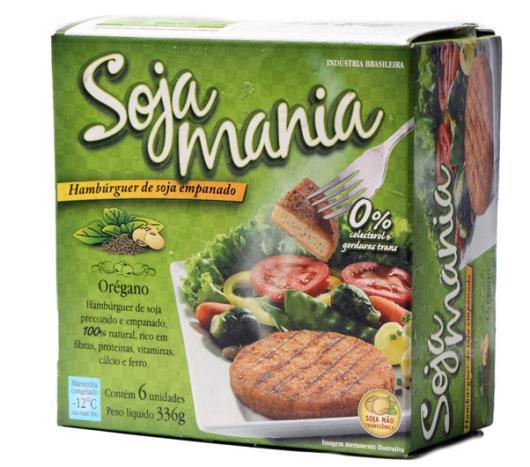 Hambúrguer Mania Soja de soja empanado sabor orégano 336g - Imagem em destaque
