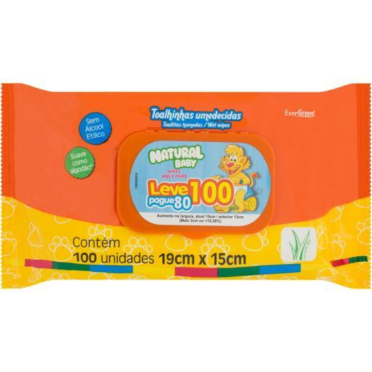 Toalha umedecida Natural Baby Wipes leve 100 pague 80 - Imagem em destaque