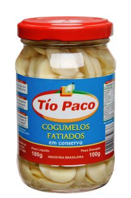 Cogumelo Tío Paco em conserva fatiado 100g