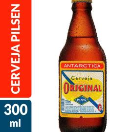 Cerveja Antarctica original pilsen Long Neck 300ml
