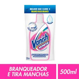Alvejante sem cloro white líquido Vanish refil 500ml