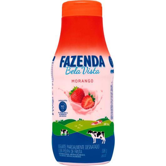 Iogurte líquido Boa Vista sabor morango Fazenda 500g - Imagem em destaque