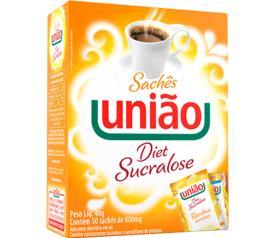 Adoçante Sucralose União Sachê 50 unids de 0,8g
