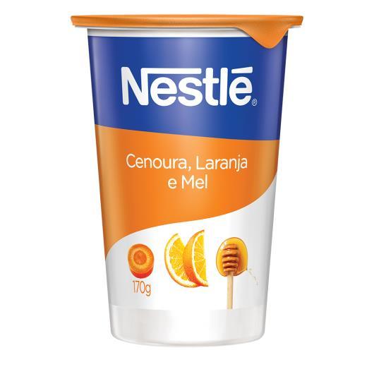 Iogurte Nestlé natural integral cenoura, laranja e mel 170g - Imagem em destaque