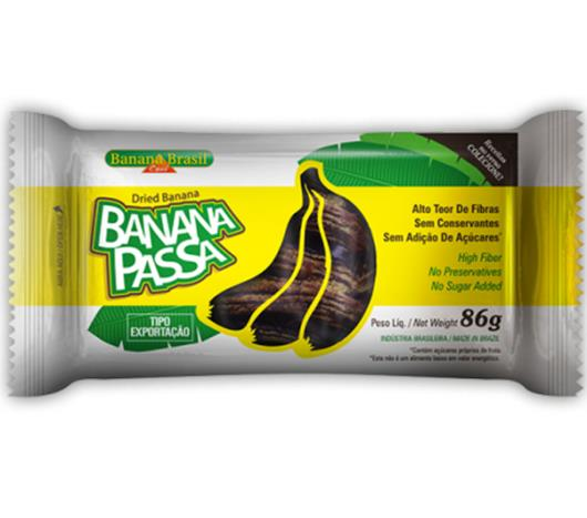 Banana Brasil - banana Passa 86g - Imagem em destaque