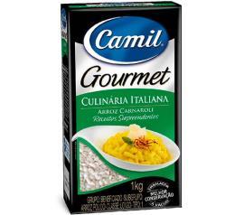 Arroz premium culinária italiana Camil 1 kg