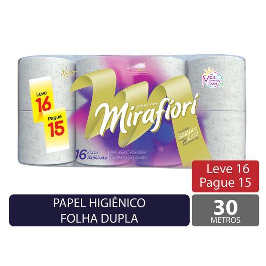 Papel higiênico Mirafiori folha dupla neutro 30m leve 16 pague 15 - Imagem em destaque